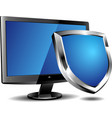Computer security shield vector image vector image