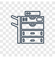 copy machine concept linear icon isolated on vector image
