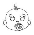 cute baby icon vector image