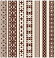 decoration elements patterns vector image