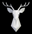 deer head polygonal white model vector image