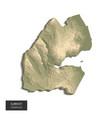 djibouti map - 3d digital high-altitude vector image vector image
