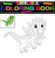 dragon coloring book vector image vector image