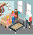 elderly couple family isometric vector image