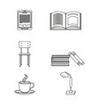 elearning icon set design vector image