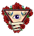 Eye In Triangle Tattoo Design vector image