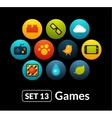 Flat icons set 13 - game collection vector image
