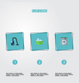 flat icons sweeper laundry laundromat and other vector image vector image