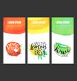 fresh peach lemon kiwi juice banner template set vector image vector image