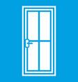 glass door icon white vector image vector image