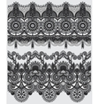 grey collection of seamless ornamental floral vector image vector image