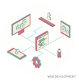 isometric of website analytics vector image vector image
