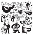 jazz musicians symbols vector image vector image