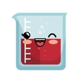 kawaii chemistry test tube lab icon vector image