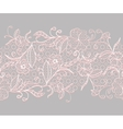 Lace seamless horizontal ribbon White with pink vector image vector image