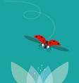 ladybug flies vector image