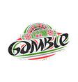logo for gamble vector image