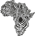 map africa with head giraffe vector image vector image