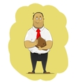 Office worker standing with bag vector image vector image