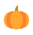 orange pumpkin autumn halloween pumpkin vector image vector image