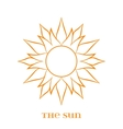 Orange Sun Symbol over white vector image