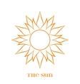 Orange Sun Symbol over white vector image vector image