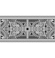polynesian ornamental tattoo vector image vector image
