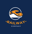 railway train logo design inspiration vector image
