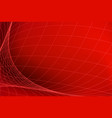 red abstract background with network pattern vector image