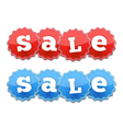 Red and Blue Sale Tags vector image vector image