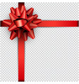 red bow with ribbon for gift wrap vector image
