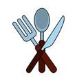 restaurant cutlery symbol vector image vector image