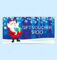 santa claus with gift box in hands vector image vector image