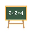 school board with simple equation vector image vector image