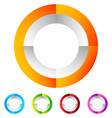 segmented circle generic abstract icon circular vector image