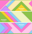set of three horizontal material design banner vector image