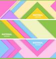 set three horizontal material design banner vector image vector image