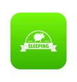 sleeping sheep icon green vector image vector image