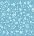 snowflakes seamless pattern winter snow flake vector image