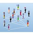 Social net vector image vector image