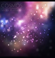 space background with stars universe vector image vector image