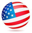 Spherical flag of USA vector image vector image