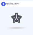 starfish icon filled flat sign solid vector image vector image