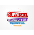 Super Sale and special offer with colorful paper a vector image vector image
