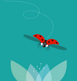 the ladybug flies vector image
