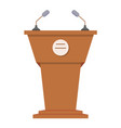 Tribune or rostrum flat icon vector image