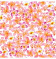 Tropical Flowers Background Vintage Seamless vector image vector image