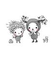 Two little cartoon fairies vector image