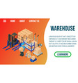 warehouse concept banner isometric style vector image