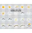 weather icon set made by paper vector image